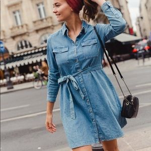 French Connection Belted Shirt Dress